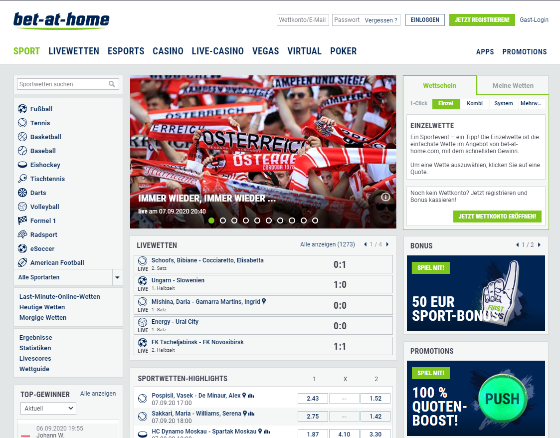bet at home webseite