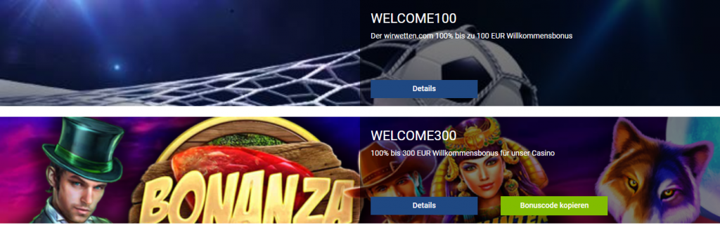 wirwetten.com bonus code