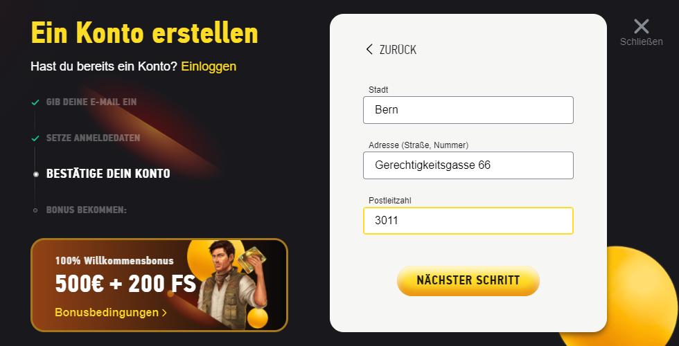 FEZbet Registrierung 5