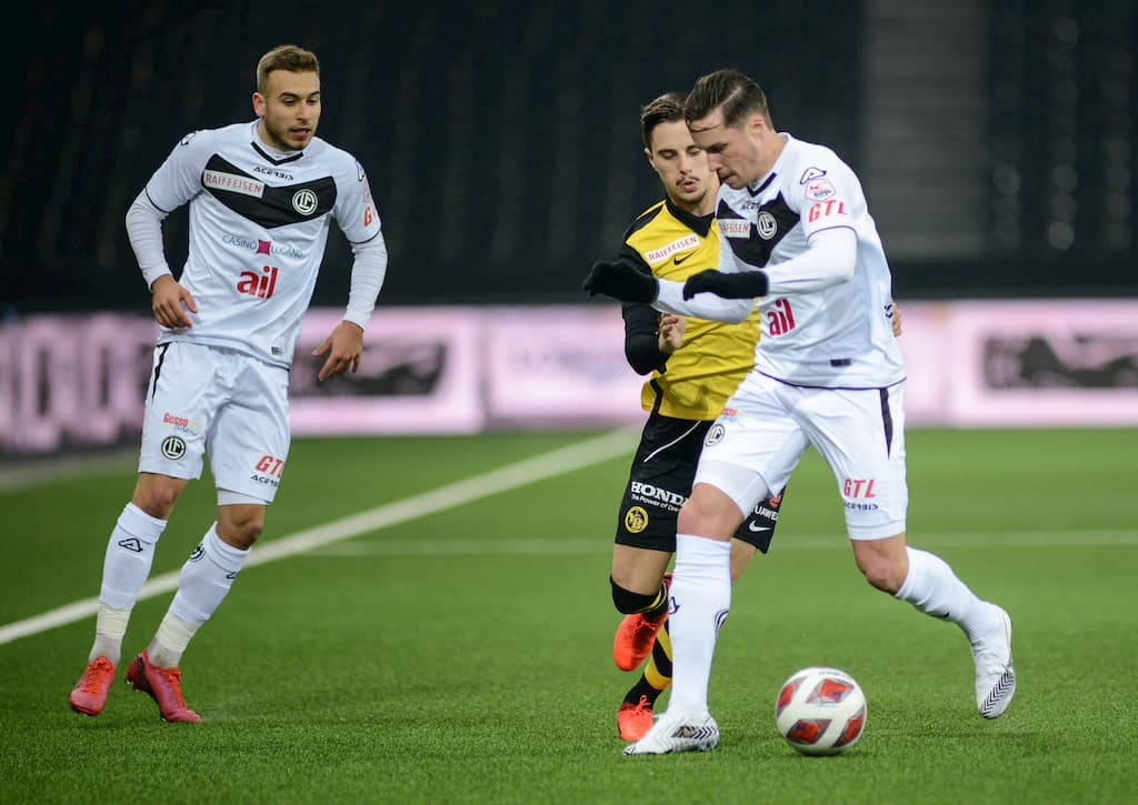 Super league schweiz FC lugano young boys bern