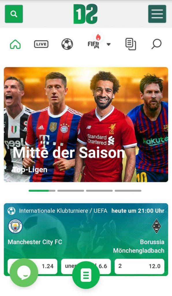 Dozenspins Schweiz mobile Webseite