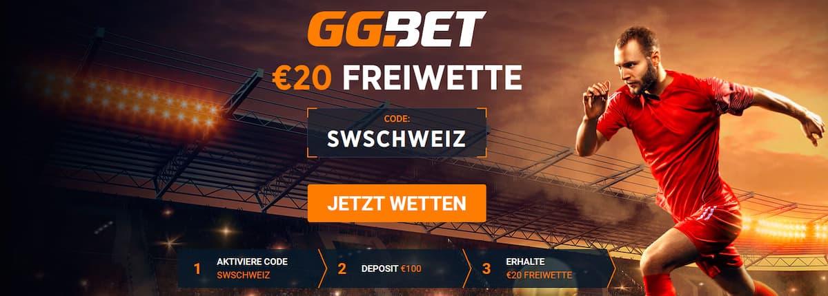 GGbet Schweiz Bonuscode