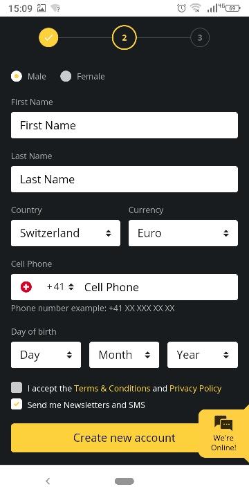 Betobet Schweiz Schritt 2