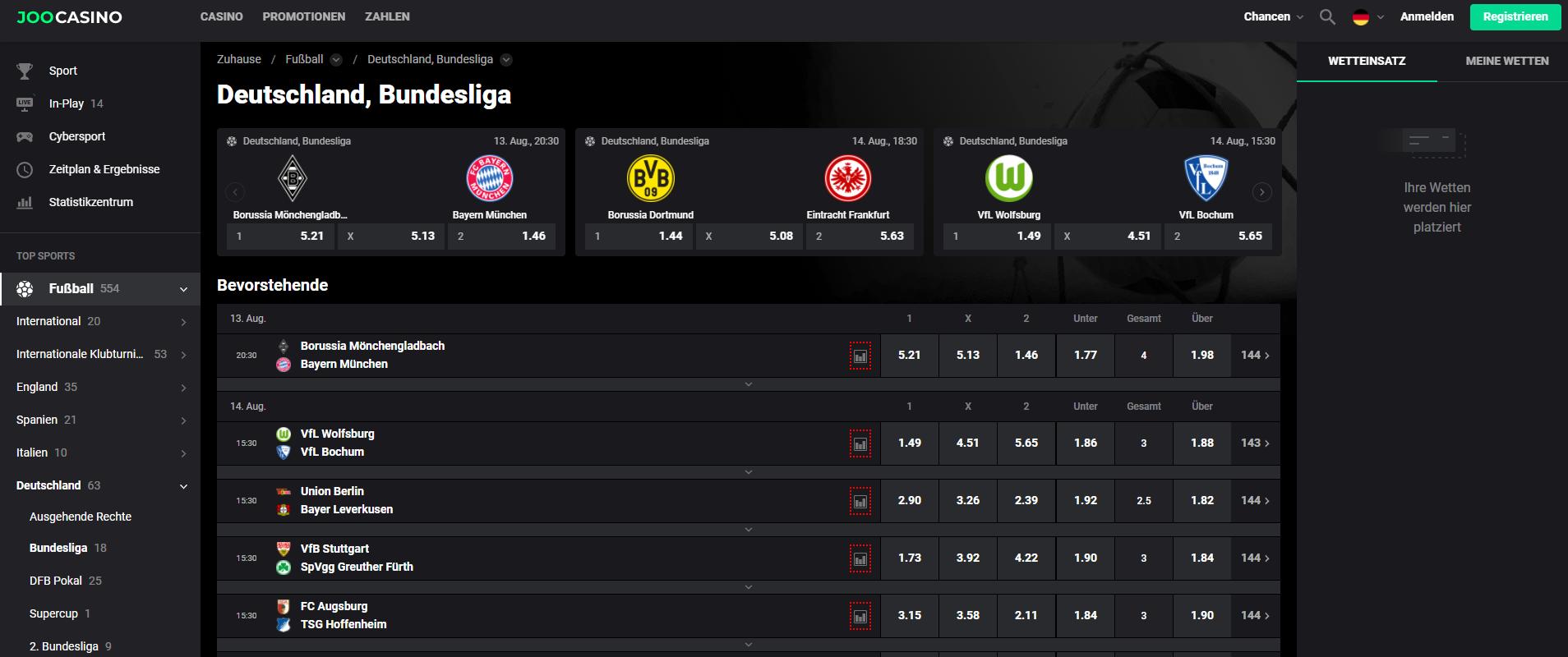 Joosports Schweiz - Webseite